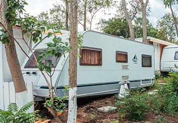 first caravan line in the camping chernomorets